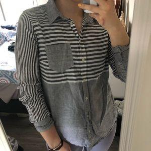 Merona striped button down shirt